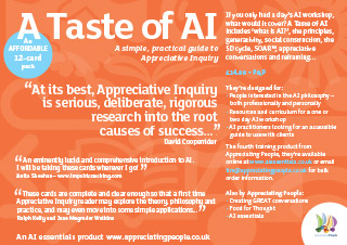 appreciative inquiry training cards, A Taste of AI, Appreciating People, UK