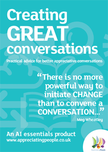 appreciative inquiry training cards, Creating Great Conversations, Appreciating People, UK