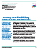 Learning from the Military - AI Practitioner Feb 09 article