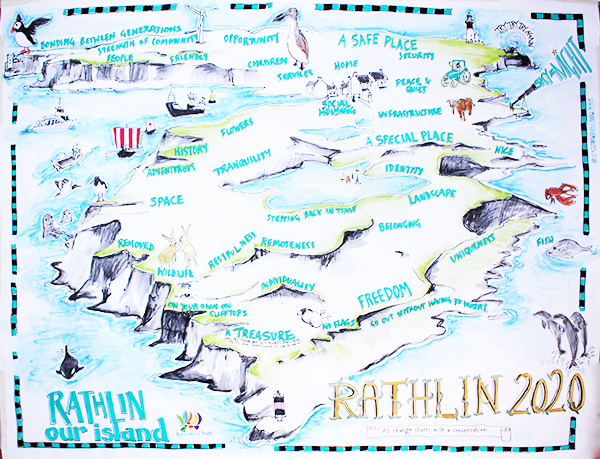 The Rathlin Island communities develops a plan for the year 2020, based on 'every change starts with a conversation'...
