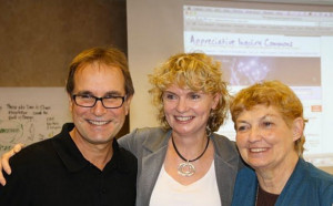 David Cooperrider, Jackie Kelm and Jane Magruder Watkins (L-R)